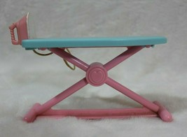 Fisher Price Loving Family Pink Blue Ironing Board Attached Iron 1994 Vintage  - $19.79