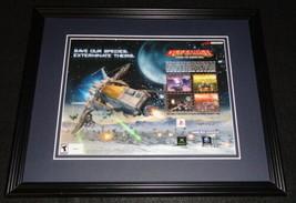 Defender 2002 PS2 XBox Framed 11x14 ORIGINAL Advertisement  - $22.55