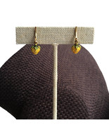 Vintage Earrings tiny teeny weeny little strawberry dangles yellow clip ... - $19.00