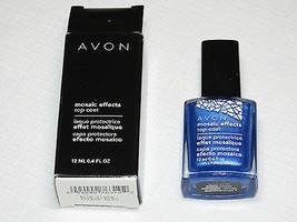 Avon Mosaic Effects Top Coat Blue Flash 12 ml 0.4 fl oz polish mani pedi - $19.72