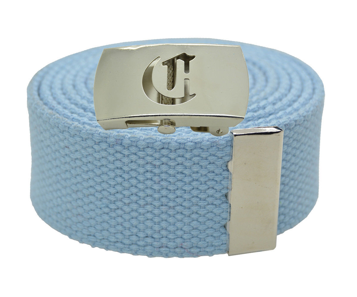 """60/"""" Capital Initial /""""T/"""" Canvas Military Web Belt /& Buckle 25 Color"""