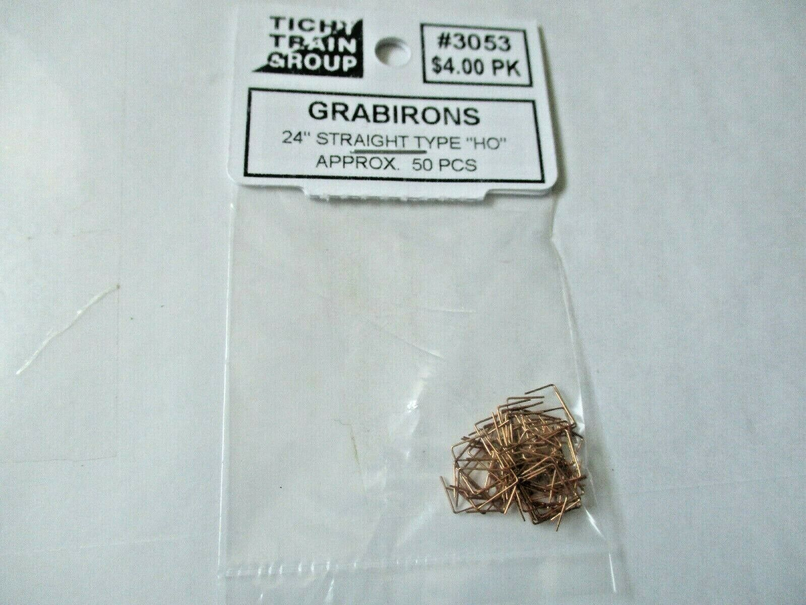 """Tichy #293-3053 Grabirons  24"""" Straight Type Approx 50 Pieces HO Scale"""