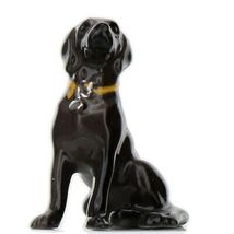 Hagen Renaker Dog Labrador Retriever Sitting Black Ceramic Figurine image 8