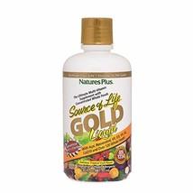 NaturesPlus Source of Life Gold Liquid - 30 fl oz - Tropical Fruit Flavor - Dail