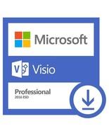 MICROSOFT VISIO PRO PROFESSIONAL 2016 PRODUCT CODE LICENSE KEY PC DOWNLOAD - $24.95
