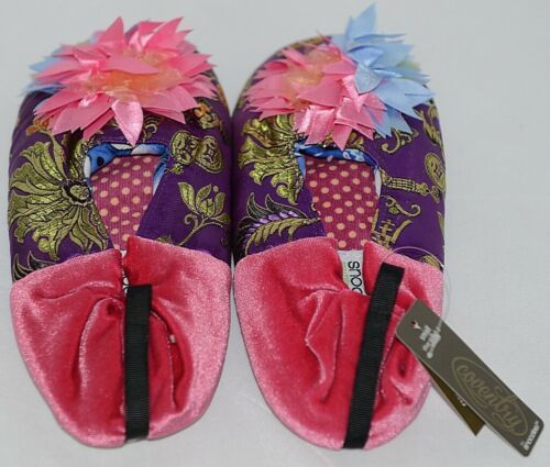 Snoozies Brand Coventry Collection Violet Pink Womens House Slippers Size SM
