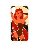 Sexy Cartoon Devil Girl Print Apple iPhone X Hardshell Case - $19.99