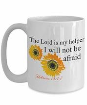 An item in the Pottery & Glass category: Sunflower Christian Mug With Scripture For Women Floral Ceramic Coffee Cup