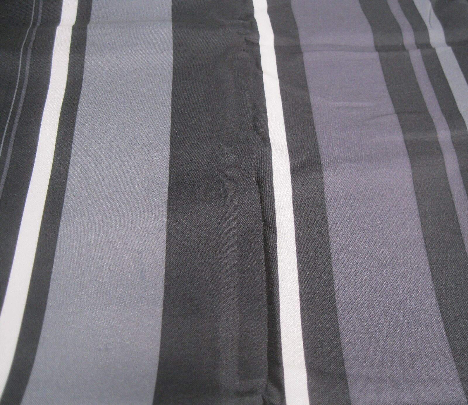 Primary image for Allen Roth Allison Stripe Drape Curtain Pocket Panel Onyx Black Gray Purple 84L