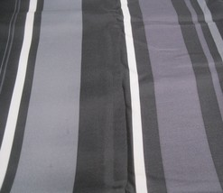 Allen Roth Allison Stripe Drape Curtain Pocket Panel Onyx Black Gray Pur... - $28.65