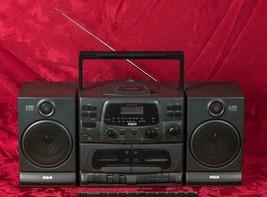 Vintage RCA 2 Way Speaker CD/Tape/AM/FM Player Model RP-7953B mbh - $49.49