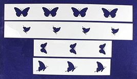 Butterfly Border 4 Piece Stencil Set - $14.39