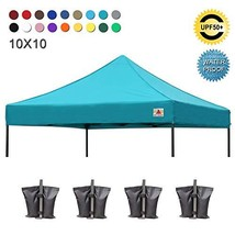 ABCCANOPY Replacement Top Cover 100% Waterproof 18+ Colors 10x10 Pop Up ... - $130.29