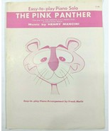 Vintage The Pink Panther Easy-to-Play Piano Solo Sheet Music Henry Manci... - $13.50