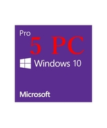 5 PC WINDOWS 10 PRO 32 / 64 BIT GENUINE LICENSE KEY - LIFETIME ACTIVATIO... - $23.99