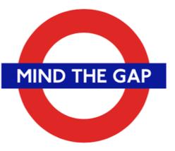 TFL™5102 Licensed Mind the Gap™ Roundel Vinyl Sticker - $2.69