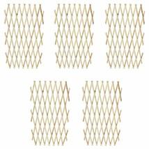 """vidaXL 5x Trellis Fence 71""""x45"""" Wood Extendable Flower Panels Garden Border - $42.99"""
