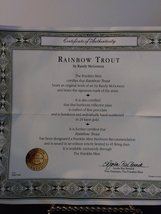 """Field & Stream """"Rainbow Trout"""" by Randy McGovern Plate No HA2950 Plate The Frank image 3"""
