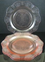 Set of 4, American Sweetheart, Pink, Dinner Plates, made by MacBeth-Evans Glass - $100.00