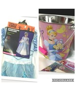 Easter Storybook Princess Bucket Girls Costume Cinderella Blue Size Small Disney - $16.94