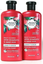 2 Herbal Essences 13.5 Oz Daily Cleanse White Strawberry Sweet Mint Conditioner - $23.99
