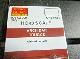 Micro-Trains Stock # 00502000 (890) HOn3 Arch Bar Trucksd w/o Coupler  image 2