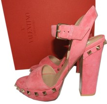 """S-1686147 New Valentino Ankle Strap 4/"""" Heel Sandal Size US 8.5 Marked 38.5"""