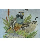 Quail Hand Painted Needlework Canvas Toni Totes VT - $42.00