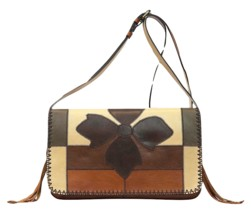 NEW PATRICIA NASH LEATHER ZIG ZAG PATCHWORK BARI SQUARE FLAP CROSSBODY B... - $262.23 CAD