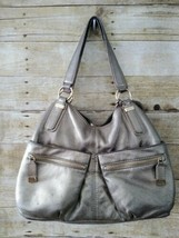 Michael Kors Gold Metallic Hobo Handbag Purse Satchel Leather - $34.65