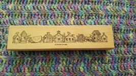 Bird Houses Border Watermelon Wood Mounted Rubber Stamp 1996 Stampin' Up ! - $5.93