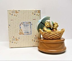 Cherished Teddies Beth & Blossom let Me Be Your Teddy Bear Music Box - $29.70