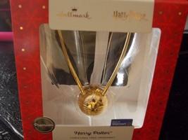Hallmark Premium Harry Potter Hogwarts Golden Snitch Weihnachtsbaum Ornament Neu - $24.98