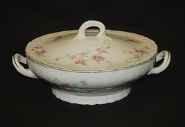 Helene by Haviland Round Covered Vegetable Bowl Yellow & Pink Roses New ... - $34.64