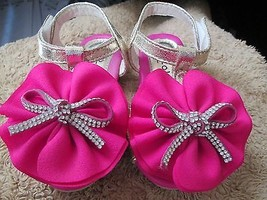 Toddler Girls Flower Bow watermelon sandal size 5 Brand New - $12.50