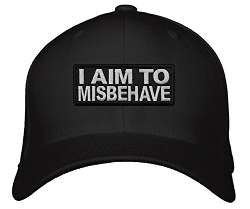 I Aim To Misbehave Hat (Black)