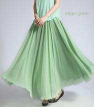 YELLOW High Waist Chiffon Maxi Skirt Women Flowing Long Wedding Bridesmaid Skirt image 12