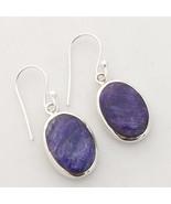 Kanika Jewelry Trove Sapphire Gemstone Sterling Handcrafted Silver Earrings - $38.99
