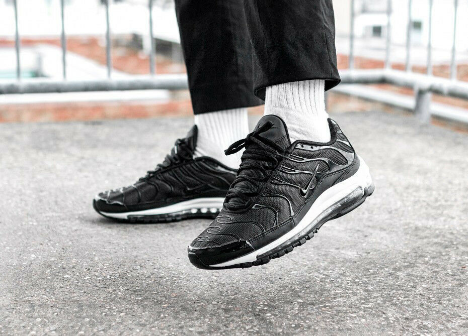 Details about Men's NIKE AIR MAX 97 PLUS (Size 9.5) Black Anthracite White AH8144 001