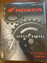 Honda 2000 2001 2002 2003 VT1100C2 Shadow Sabre Service Manual 61MCK03 NEW - $96.66