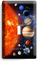 SOLAR SYSTEM SPACE PLANETS MOON STARS SINGLE LIGHT SWITCH PLATE COVER RO... - $10.99