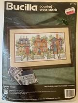 """Bucilla Counted Cross Stitch Diamond Avenue 18""""x10"""" 1995 NEW #41175 Nancy Rossi - $29.65"""