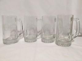 Set(4) McIlhenny co. TABASCO Pepper Hot Sauce Beer Glass Mug Man Cave Ba... - $30.69