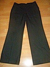 ANN TAYLOR LOFT JULIE BLACK STRETCH CUFFED DRESS PANTS SIZE 8 - $19.34