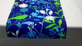 """SALE PRICED TO Go  72""""  Was 19.00 blue, green, and white fabric Table Ru... - $9.50"""