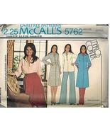 5762 Vintage Mccalls Nähmuster Misses Kleid Top Überrock Carefree Oop Nähen - $5.52