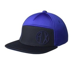 Armani Exchange AIX Men's Circular Logo Cap Hat in Spectrum Blue, BNWT $60 - $43.75