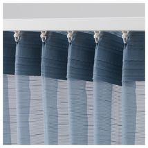GJERTRUD Sheer curtains, 1 pair, grey-blue image 3