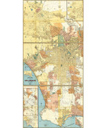 """Los Angeles and Vicinity, California Map Automobile Roads Poster 8""""x16"""" ... - $12.38"""