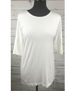 Karen Kane Plus Side Slit Tunic Blouse Shirt Top White Size M NEW NWT Wo... - $19.75